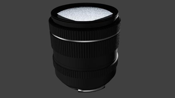 3d model camera lens