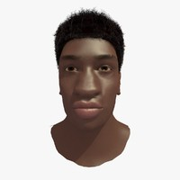 african male head 3d 3ds