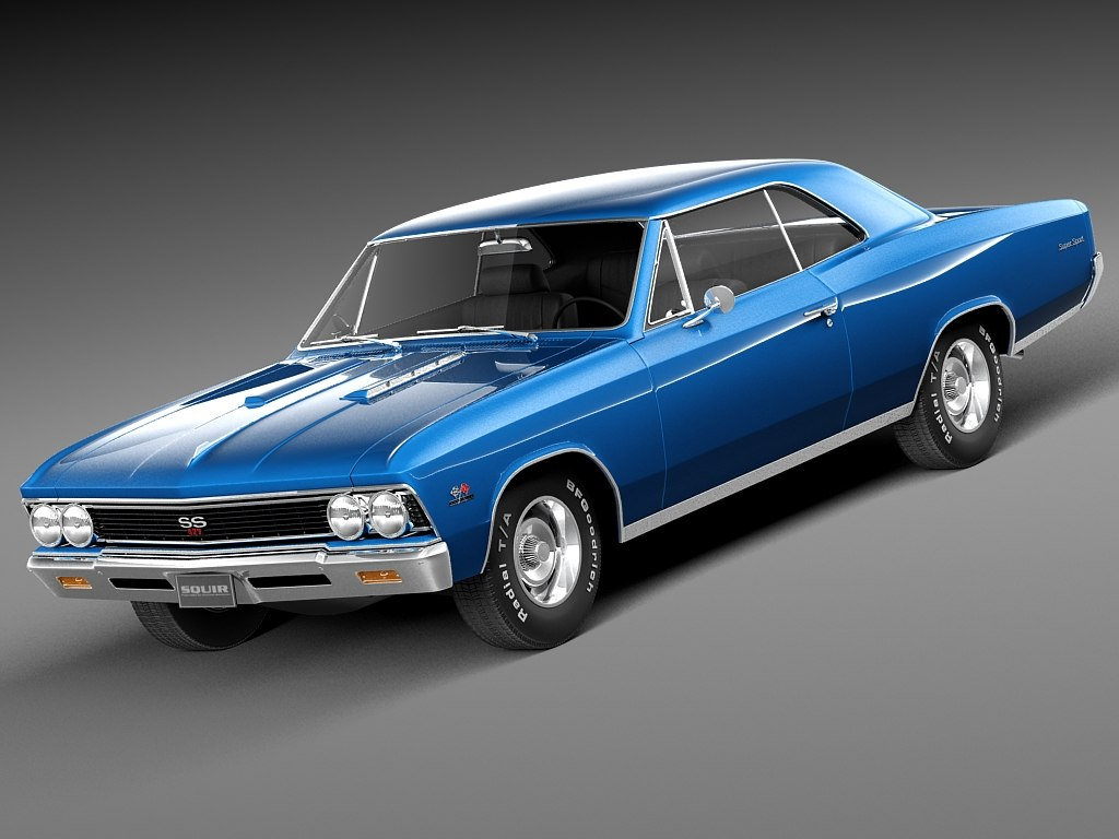 3d model 1966 chevrolet ss