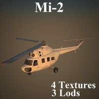 3d model of mil 2 helicopter
