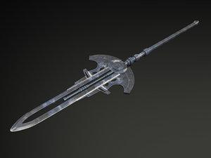 futuristic sword 3d max