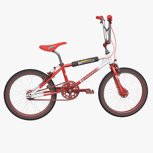 kuwahara bmx bicycle 3d model