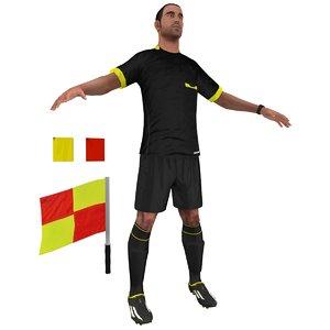 soccer referee 3d model