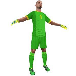 3ds max soccer goalkeeper