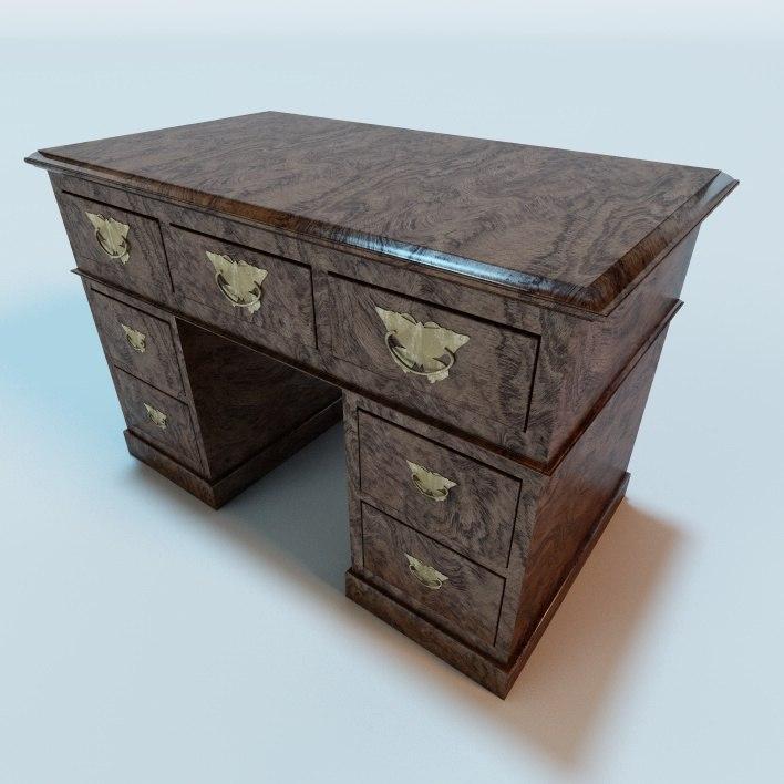 3ds antique desk