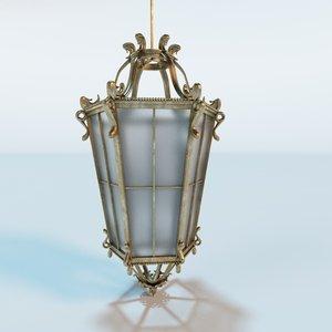antique hanging lantern c4d