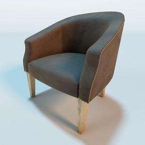 antique tub chair 3d model
