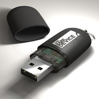 3d model of usb memory stick