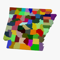 County Map - Arkansas