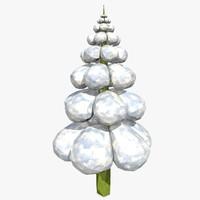 3dsmax cartoon fir tree style