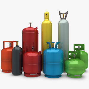 max gas cylinder set