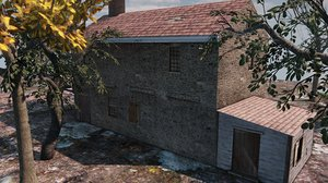 18th century colonial 3d max