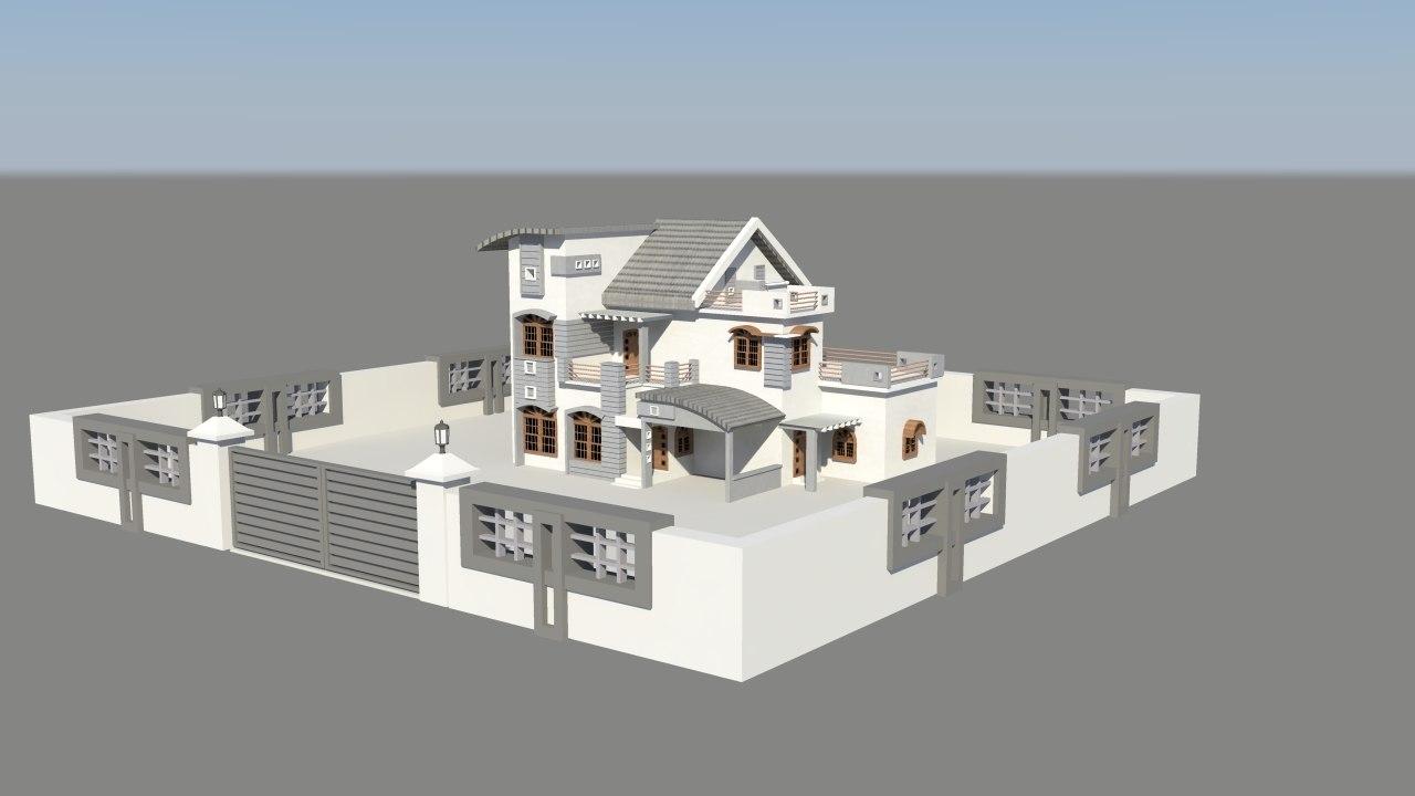 exterior house 3d ma