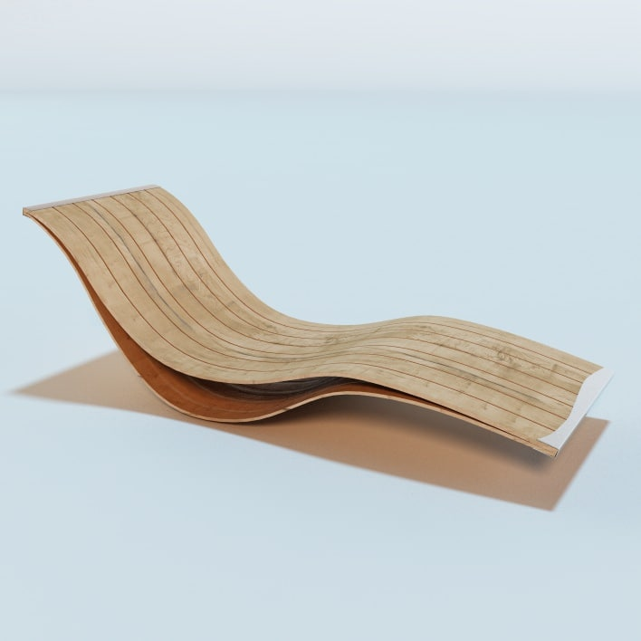 3d elegant flexible outdoor lounge chairs