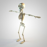 skeleton toon c4d