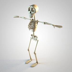 skeleton toon c4d