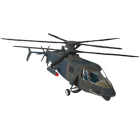 Helicopter Low Poly