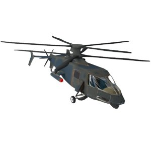 helicopter s 3d model