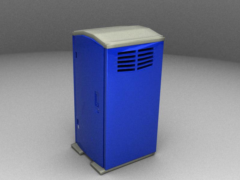 3d portable toilet model