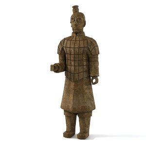 3d ancient warrior figure model