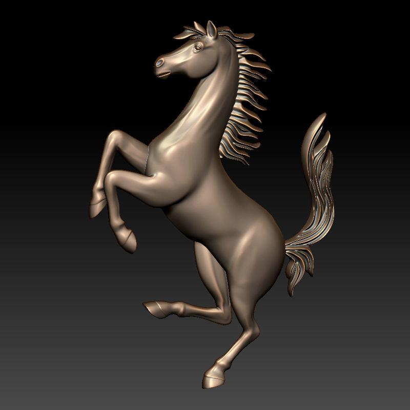 horse fr relief 3d obj