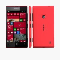 3d nokia lumia 520 wp8 model