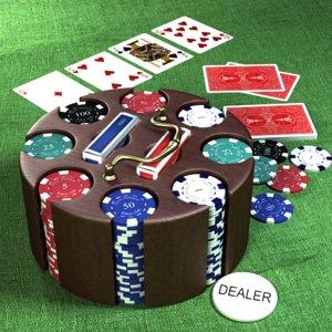 poker chip carousel 3d max
