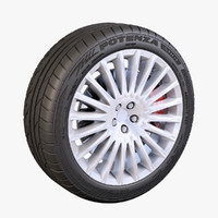 Bridgestone Potenza 20 Spoke Wheel