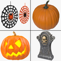 3d halloween decoration model
