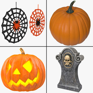 3d halloween decoration model