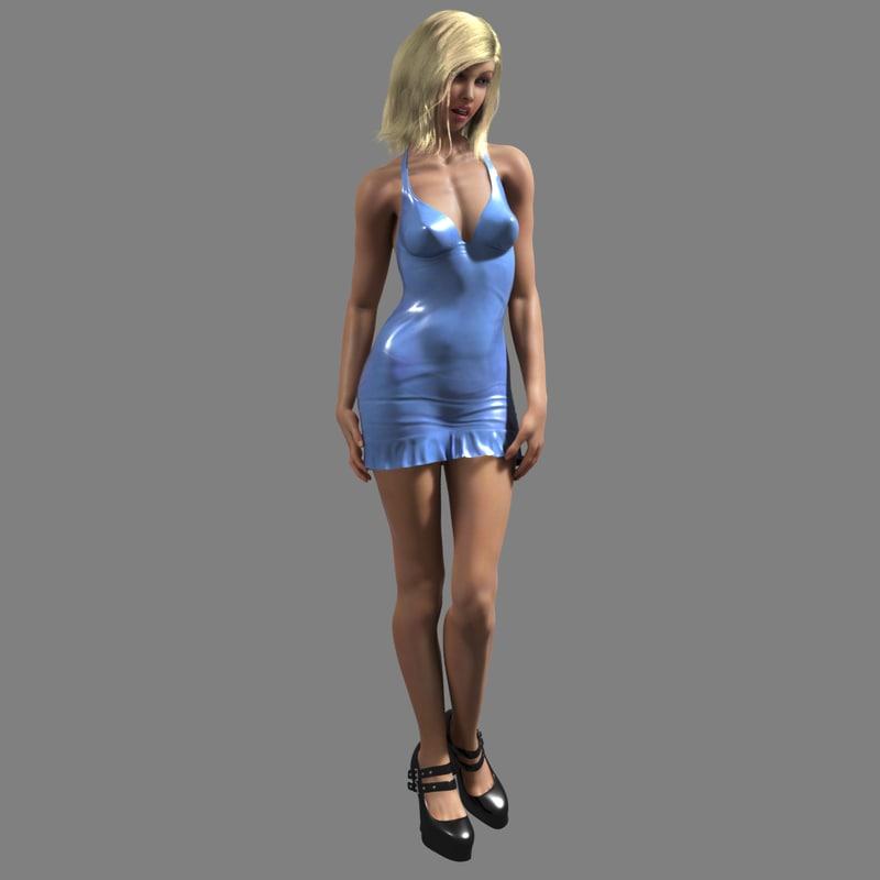 maya realistic female human anatomy