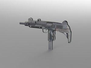 3d uzi weapon