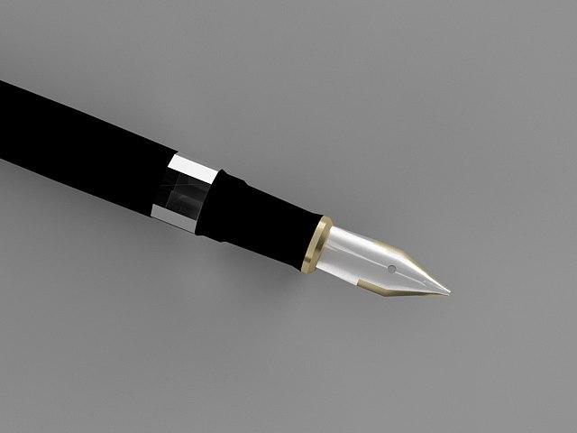 pen ink 3d max