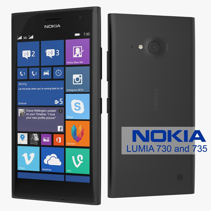 3d model new nokia lumia 730