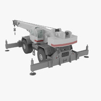 rough terrain crane 3d max