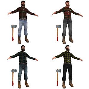 pack lumberjack man max
