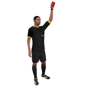 3d model rigged soccer referee