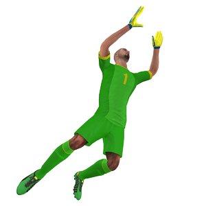rigged soccer goalkeeper 3d model