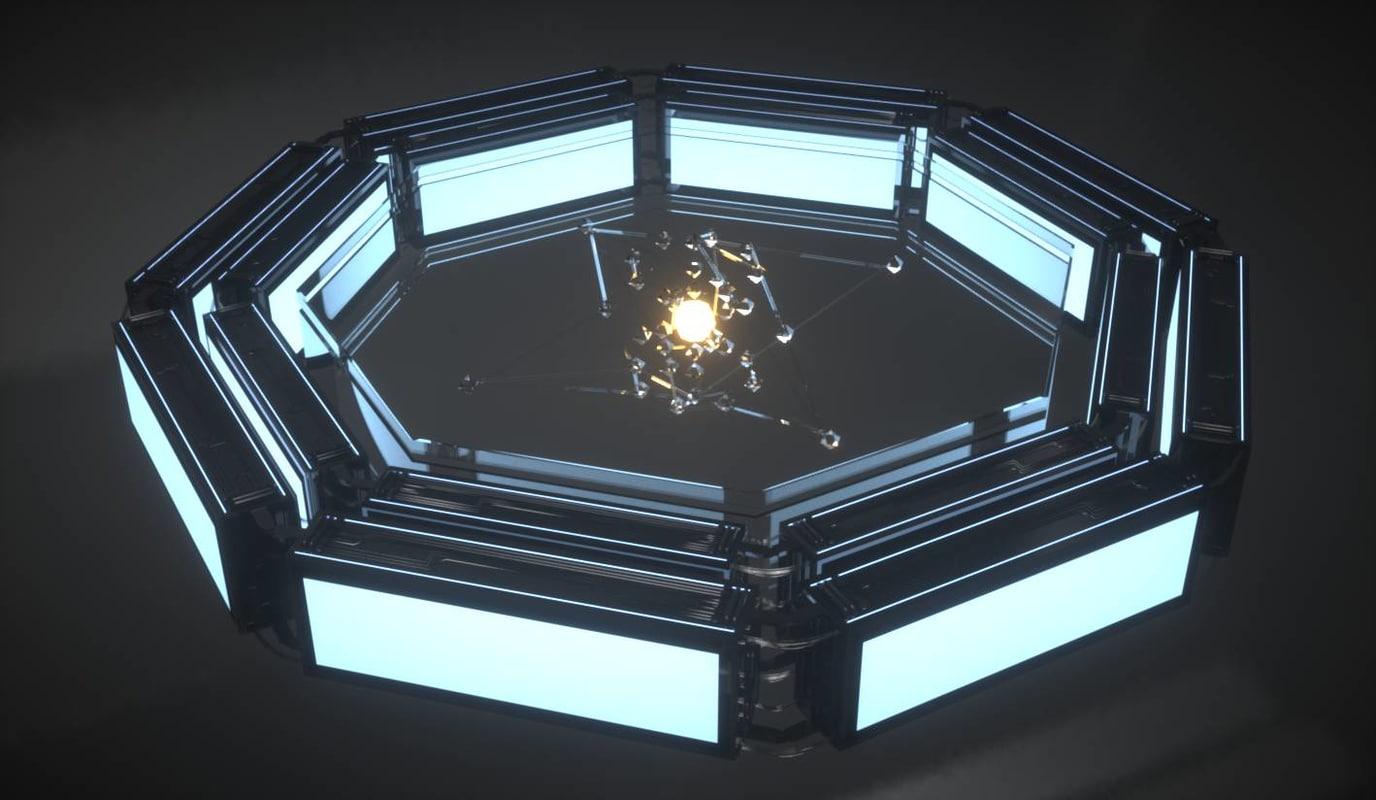 quantum core 3d model