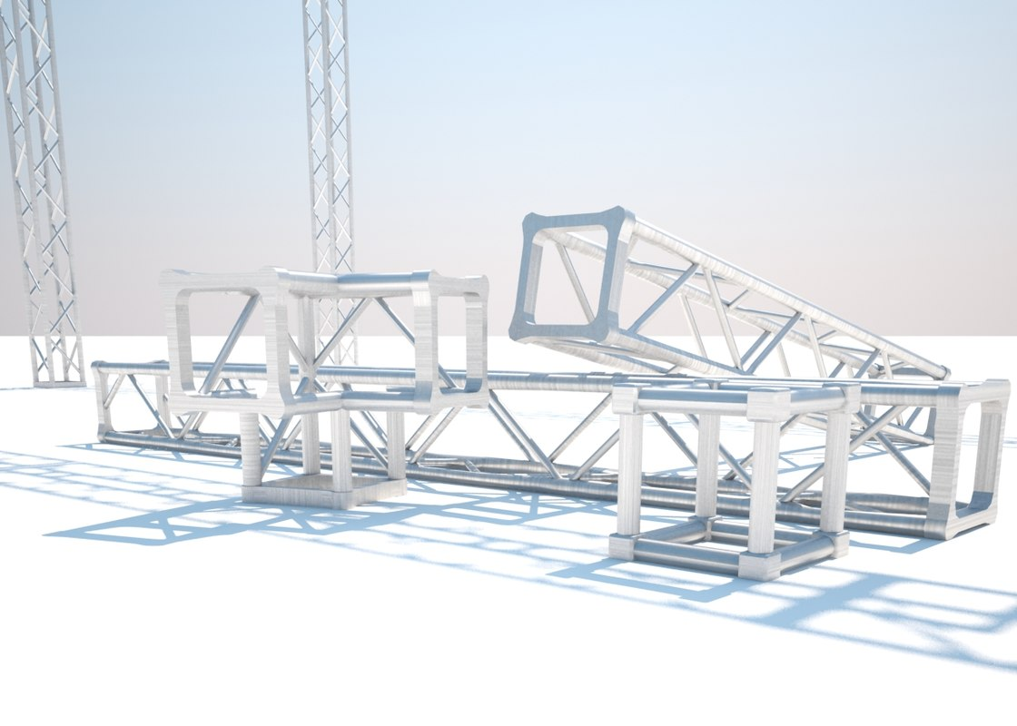 truss structure 3d 3dm