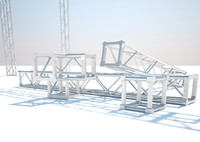 truss structure 3d 3dm