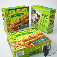 nature valley granola box 3d model