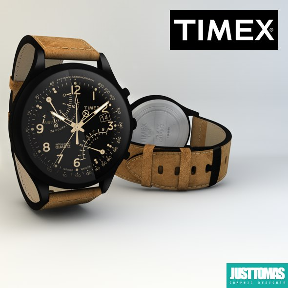 3d model of timex watch