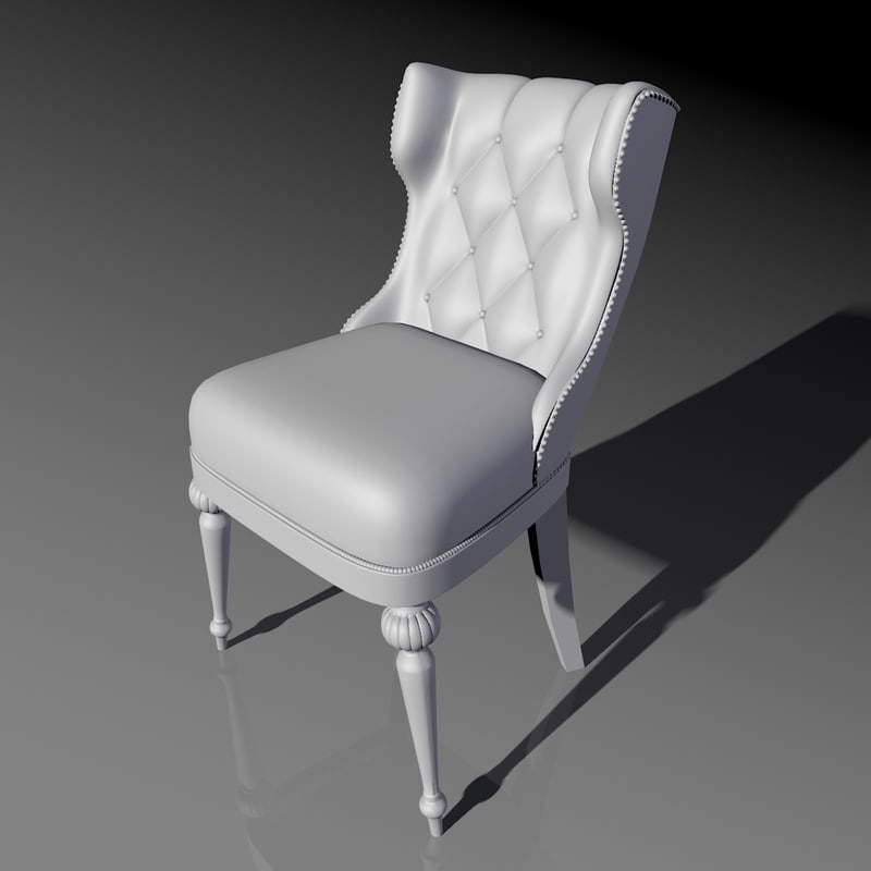 free classic chair 3d model