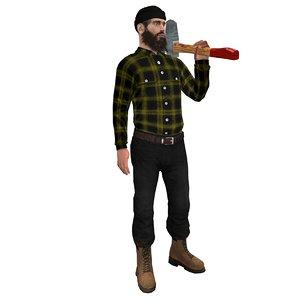 max rigged lumberjack man