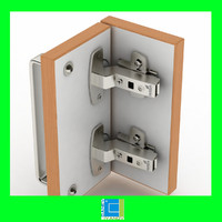 3d hettich inset cup hinges model