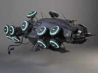 3d movie space ship model