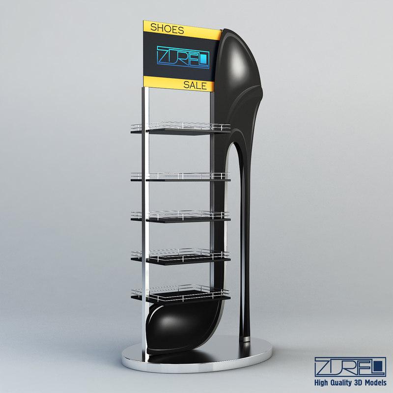 rack shoes v 1 3d max