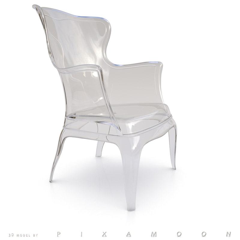 3d chair pederali claudio model
