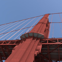 c4d golden gate bridge